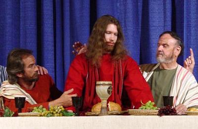 Edward as Jesus Easter 2008