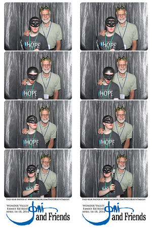 April 16, 2014 Joni and Friends Photo Booth Strips