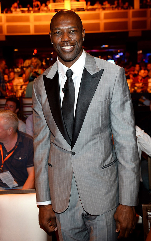 . NFL free agent Terrell Owens appears before the 17th annual Hooters International Swimsuit Pageant at The Joint inside the Hard Rock Hotel & Casino on June 27, 2013 in Las Vegas, Nevada.  (Photo by Ethan Miller/Getty Images)