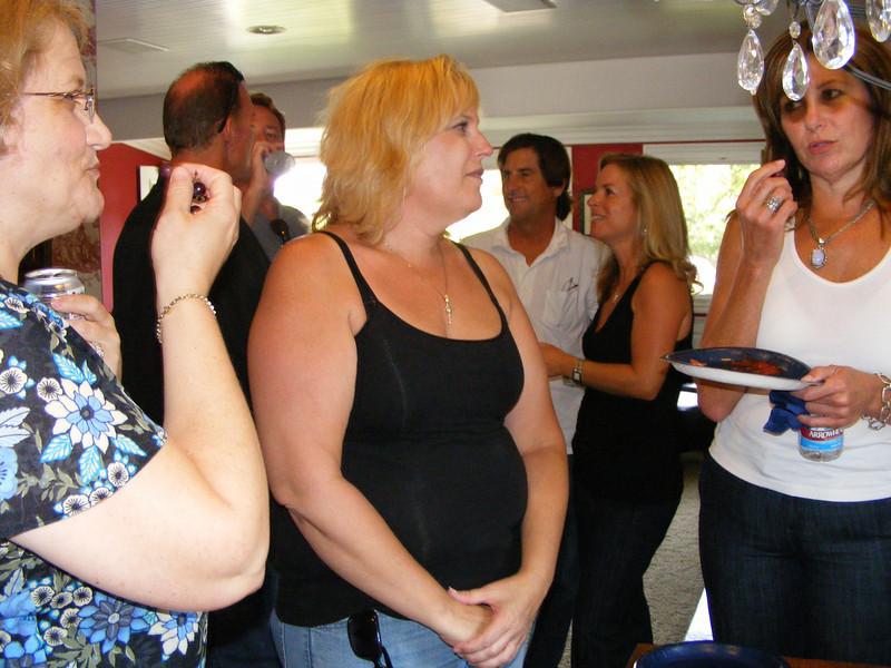 Lori Jackson Nielsen, Robin Dense, and Ellen Mitchell Reader at Leslie Feducia's pre-reunion party