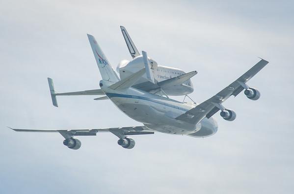 Space Shuttle Endeavour Bay Area Flyover Mountain View California