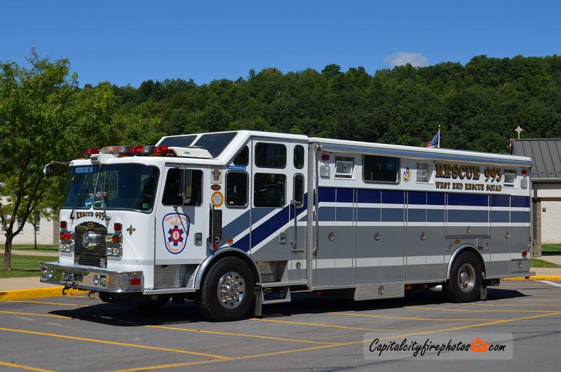 Mahanoy City (West End Fire Co.) Rescue 993: 1999 KME Excel