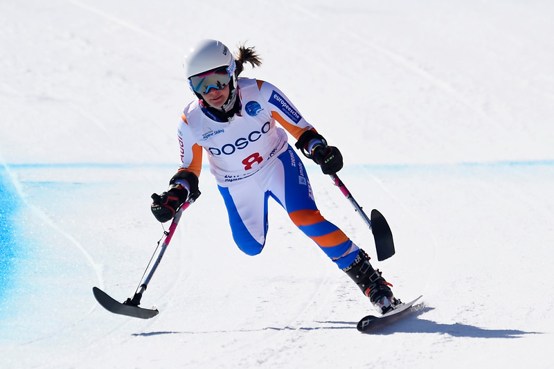 11-3-2017 SKIEN: 2017 WORLD PARA SNOWBOARD  WORLD CUP FINALS: PYEONGCHANG Training downhill. Anna Jochemsen.  Foto: Mathilde Dusol