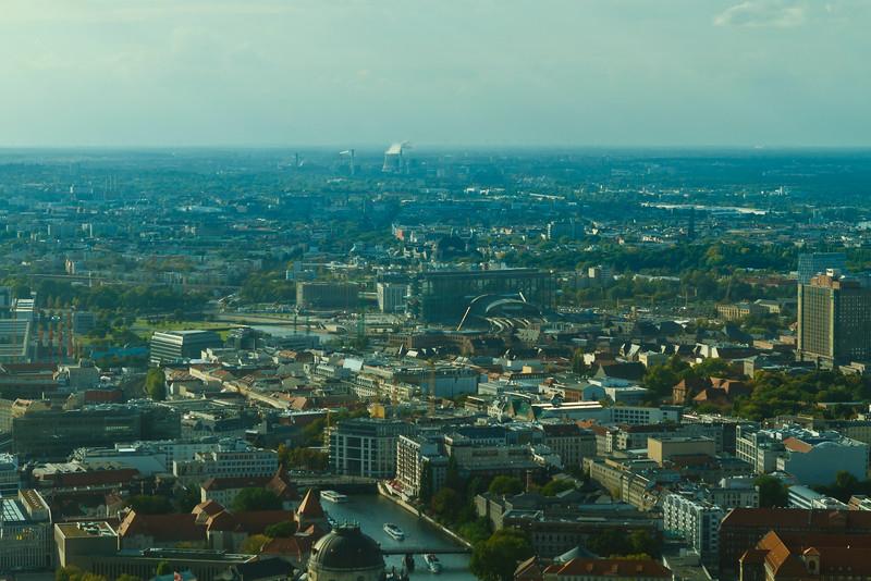 Uitzicht vanaf Fernsehturm Berlijn