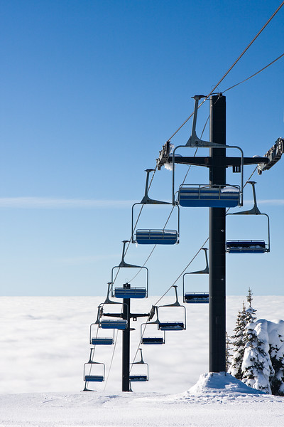 Chairlift to and from the Clouds