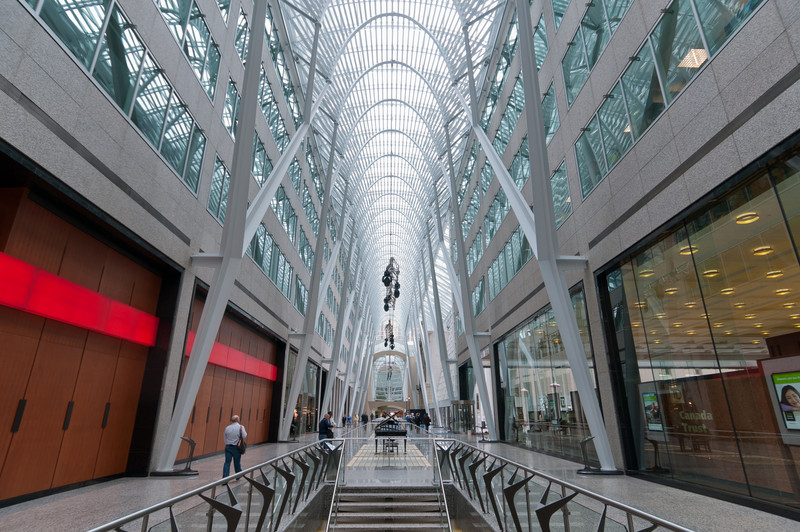 Allen Lambert Galleria in Brookfield Place in Toronto, Canada