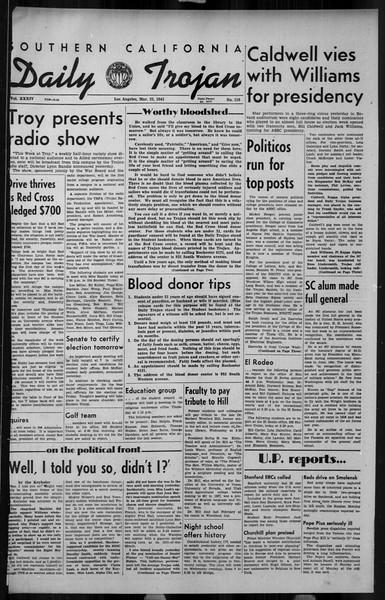 Daily Trojan, Vol. 34, No. 110, March 23, 1943