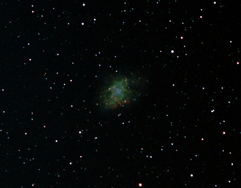 Messier M1 - NGC 1952 - Crab Nebula - 21/12/2011 (Processed cropped stack)