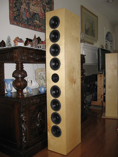 """The AudioFred ART Array, using Dayton 5.25"""" classic woofers and a single Vifa XT25 tweeter."""
