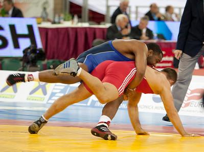 96 kg/211.5 lbs. - Daniel Cormier (Stillwater, Okla./Gator WC), dnp def. Peter Pecha (Slovakia), 4-0, 3-0 lost to Aleksei Krupnykov of Kyrgyzstan, 2-1, 8-1