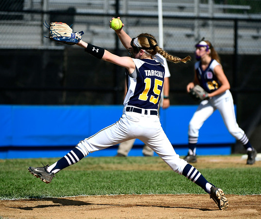 7/24/2019 Mike Orazzi | Staff Connecticut's Judy Tarczali (15) during Wednesday's Little League softball game with New Jersey at Breen Field in Bristol.