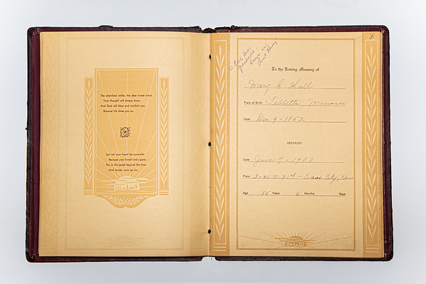 Mary E Hall Funeral Documents