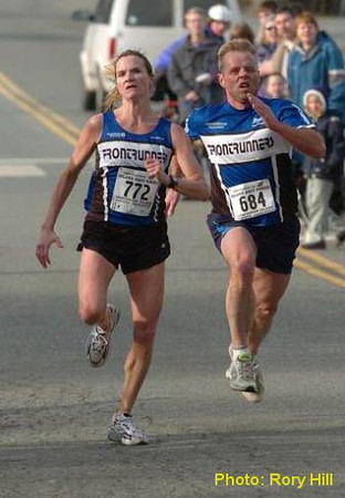 2004 Mill Bay 10K - Carla Dunn and Mike Jorgensen - 1
