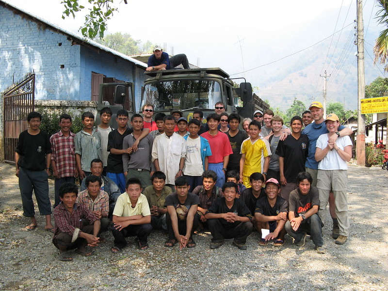 The crew at the end of a 5-day trek