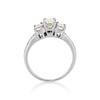 1.15ctw Emerald Cut Diamond Trilogy Ring 3