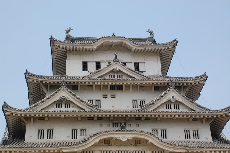 The main tower (donjon) of Himeji Castle
