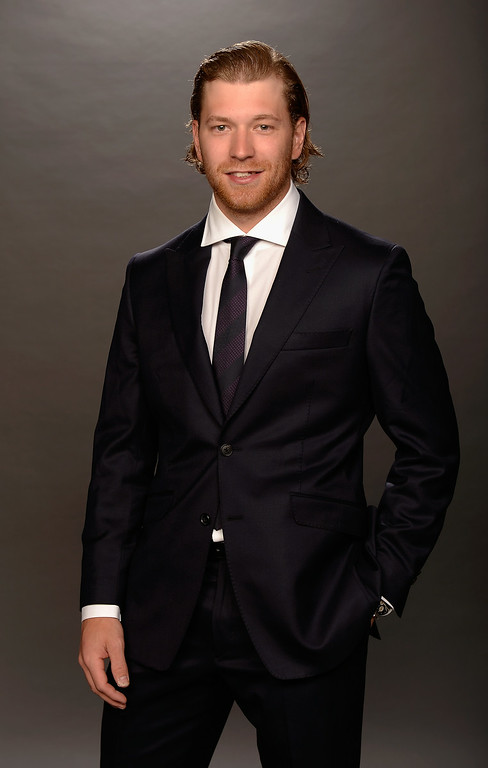 . Claude Giroux of the Philadelphia Flyers poses for a portrait during the 2014 NHL Awards at Encore Las Vegas on June 24, 2014 in Las Vegas, Nevada.  (Photo by Harry How/Getty Images)