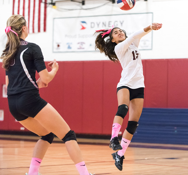 10/03/17  Wesley Bunnell | Staff  Innovation High School defeated MLC in girls volleyball on Tuesday afternoon at Innovation. Allyah Merced (15).