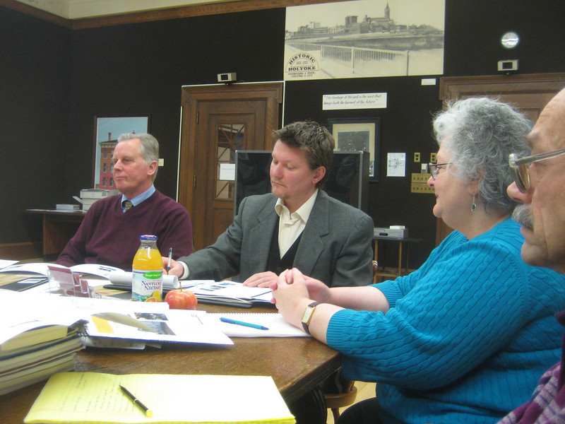 January 11-15, 2010.  HPL Corporation President Terry Plum, left, and others spent hours reviewing submitted proposals and interviewing applicants for Owner's Project Manager (OPM) for the coming building project.