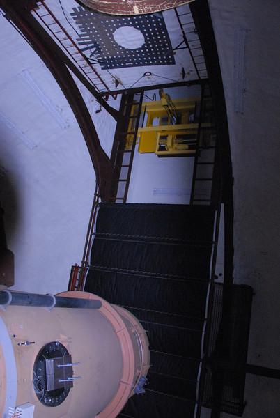 Inside the keck telescope in Mauna Kea, Hawaii