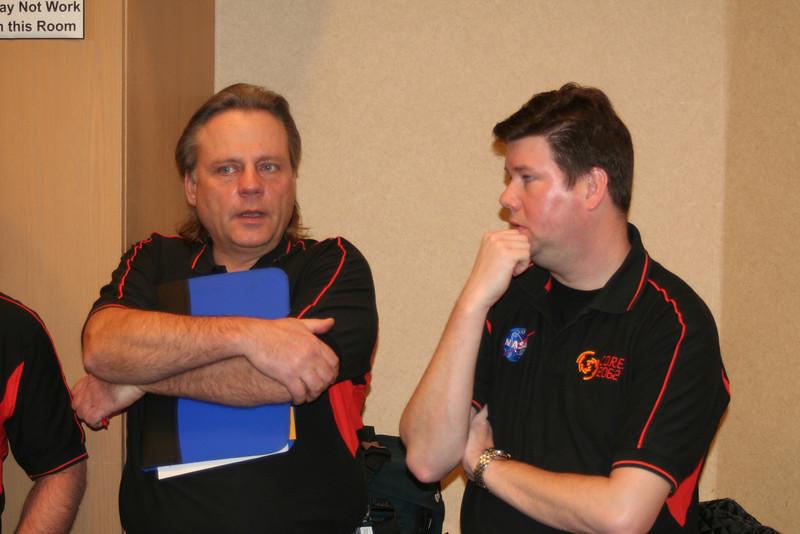 Mr. Skurulsky and Dr. Skloss talk at the kickoff event.