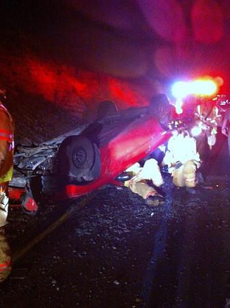 Vehicle Rollover, from Vinny, MM137, I81, Kline Township (4-29-2012)