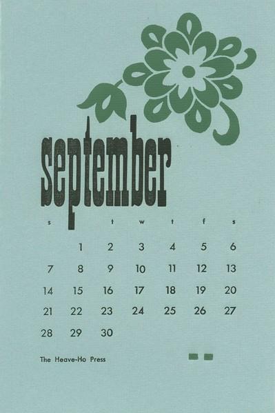 September, 1975, Heave-Ho Press