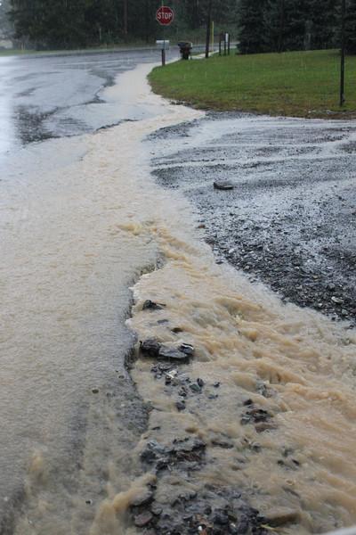 Water Erosion, SR309, West Penn (9-23-2011)