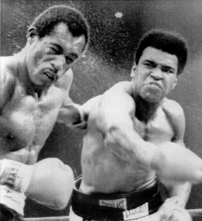 . Muhammad Ali scores with a hard right to the head of Ken Norton. The former heavyweight champion wiped out the stain of a broken Jaw upset loss to ken Norton 5 ½  months ago by scoring a split decision in the 12-round rematch.1973. Denver Post Library photo archive