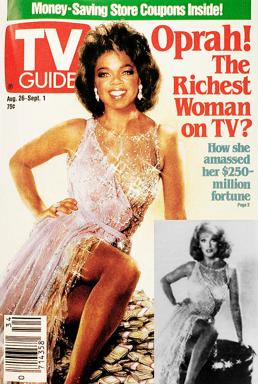 . This is a copy of the Aug. 26, Sept 1, 1989 issue of TV guide, figuring Oprah Winfrey\'s face Superimposed on actress Ann -Margret\'s classic hourglass figure. The illustration is not identified as a composite. TV guide said Monday that unsuspecting readers might think it\'s a real photograph. (AP Photo/Nick Ut)