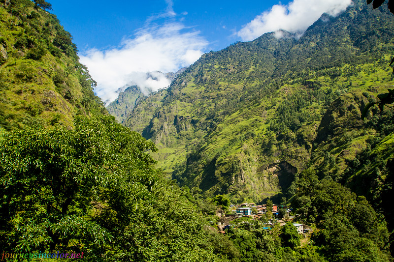 A Village in the Himalayan Foothills