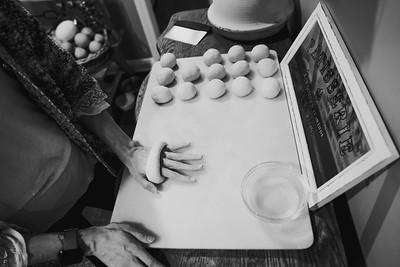 Renate Making Bagels