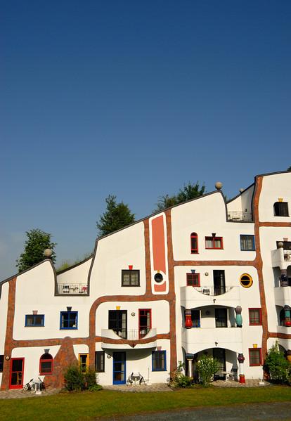 Steinhaus (Stone House) Building of Rogner Thermal Spa and Hotel Complex Designed by Friedensreich Hundertwasser, Bad Blumau (Austria)