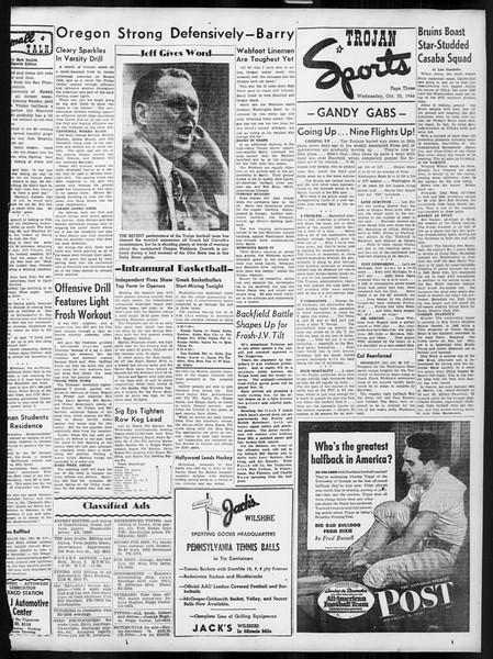 Daily Trojan, Vol. 38, No. 33, October 30, 1946