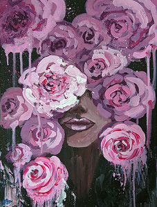 """La Vie en Rose"" (mixed media) by Mariia Kiseleva"