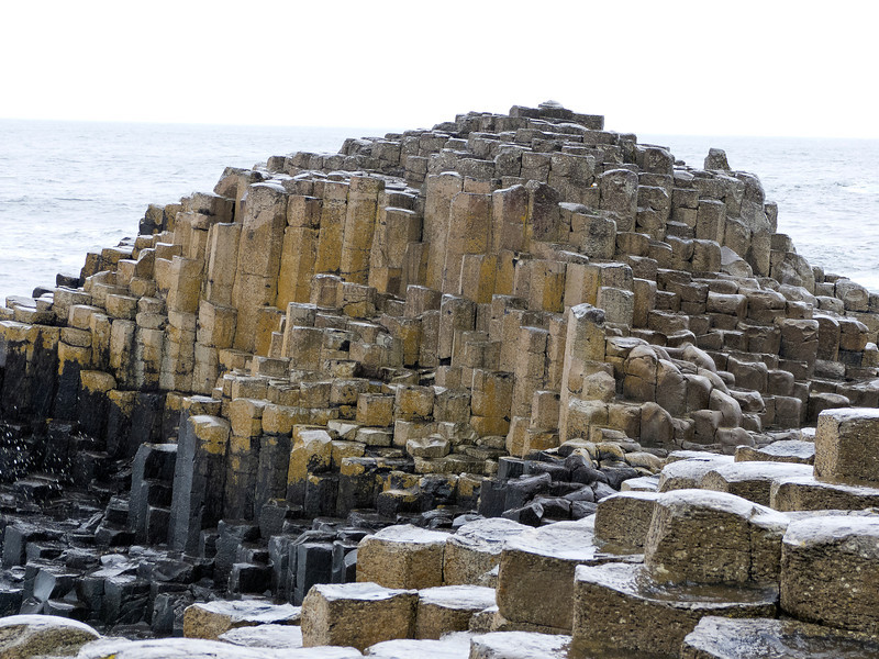 A few of the 40,000 basalt columns at The Giant's Causeway in Northern Ireland.