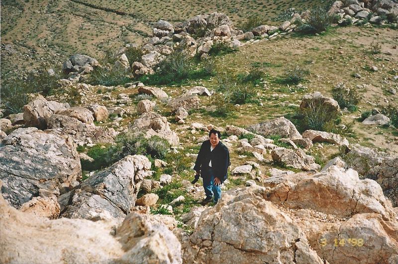 3/14/1998 Ascending Saddleback Butte Trail, Saddleback Butte State Park, Antelope Valley (W. Mojave), Los Angeles County, CA