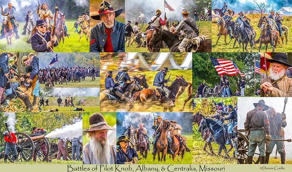 Battles of Pilot Knob, Albany, & Centralia - Postcard