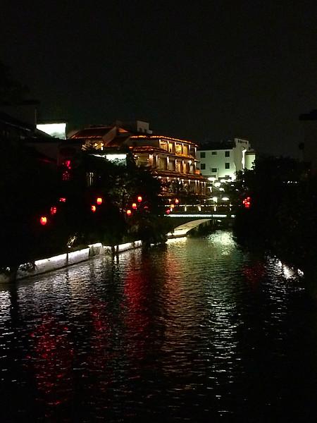 The Qinhuai River, a main feature of Nanjing's Night Market.