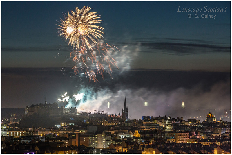 Fireworks over Edinburgh Castle from Holyrood Park (4)