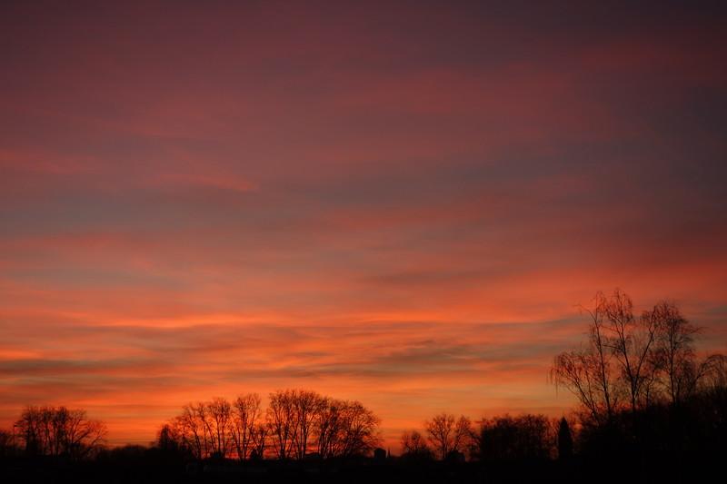 Himmel über Gelsenkirchen - Foto ist unbearbeitet - 16.2.2019