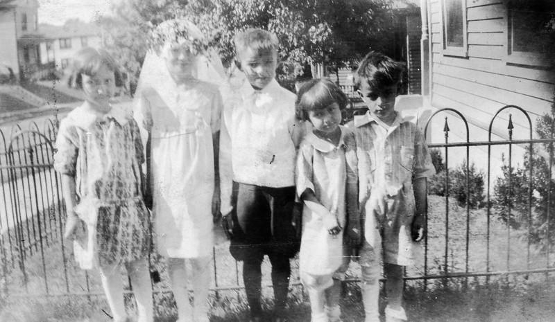May 1929- Bob 1st Communion.  Mary Clarita 4, Jim and Mary Tenbrusch