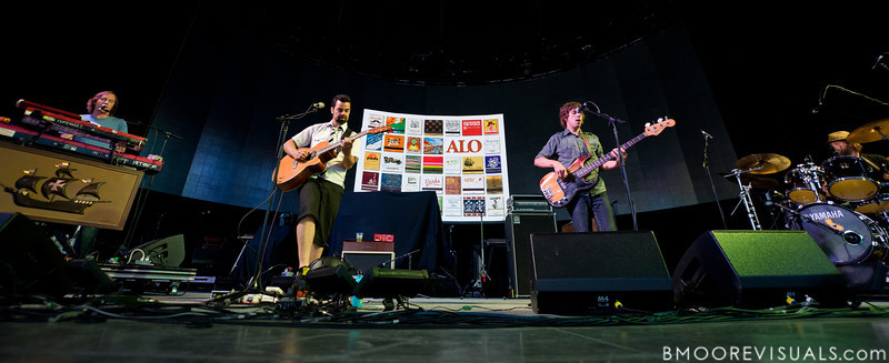 Zach Gill, Dan Lebowitz, Steve Adams, and Dave Broganof Animal Liberation Orchestra perform on August 25, 2010 at 1-800-ASK-GARY Amphitheater in Tampa, Florida