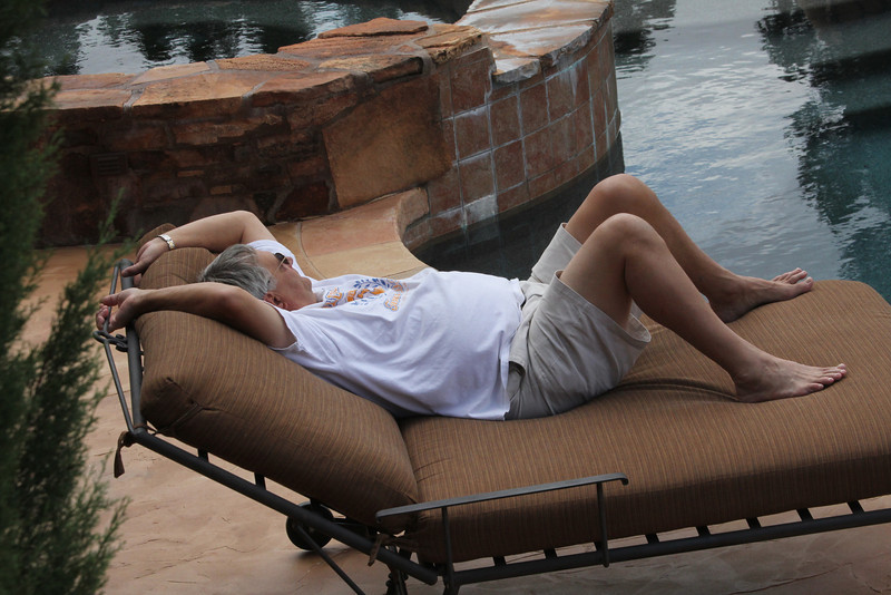 Richard takes a much deserved rest.
