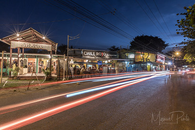 Puerto Viejo, samoa, chili rojo, long exposure, caribe sur, nighttime
