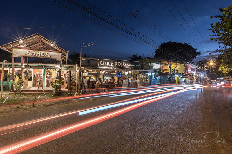 Puerto Viejo, samoa, chili rojo, long exposure, caribe sur, nighttime
