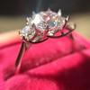 Old European Cut Diamond 3-Stone Trellis Setting, by Steven Kirsch 10