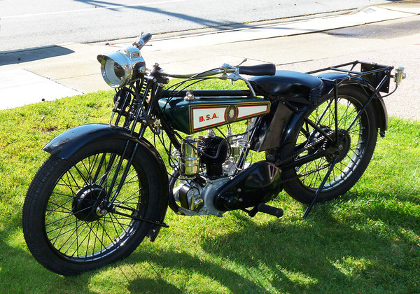 1927 BSA Model B Deluxe, back on the road.