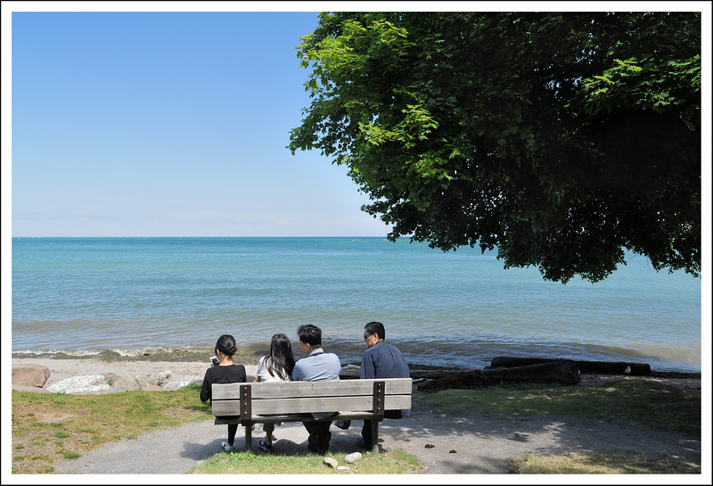 Lake Ontario at the park in Niagara on the Lake