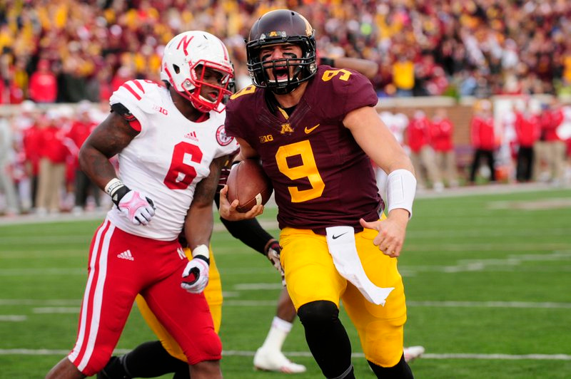 """. <p>2. NEBRASKA CORNHUSKERS <p>The last time they lost to the Gophers, President Eisenhower nearly had a heart attack. (unranked) <p><b><a href=\'http://www.twincities.com/sports/ci_24395394/gophers-football-minnesota-gets-signature-win-grow\' target=\""""_blank\""""> HUH?</a></b> <p>     (Pioneer Press: Scott Takushi)"""